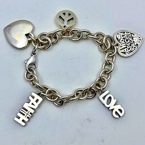 James Avery Sterling CHARM Bracelet - 5 Charms